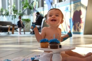 Bearett celebrates his first birthday at the Children's Hospital of Georgia